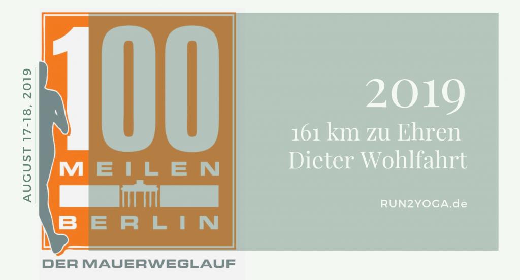 2019 führt der Mauerweglauf auf dem ehemaligen Grenzsreifen um Berllin, um Dieter Wohlfahrt zu gedenken. ©Sonja Eigenbrod RUN2YOGA.de